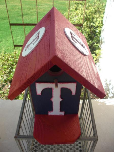Birdhouse - Texas Rangers by ABCbirdhouses