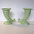 SALE, Pair of Vintage Art Deco cornucopia vases, West Coast California Pottery,