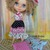 Blythe or Pullip Doll Dress - OOAK - Rock & Roll - Layers of dots Black, white