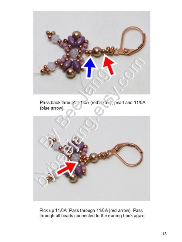 Beading Tutorial - Little Bow Earrings Beadweaving Instruction Beading Pattern