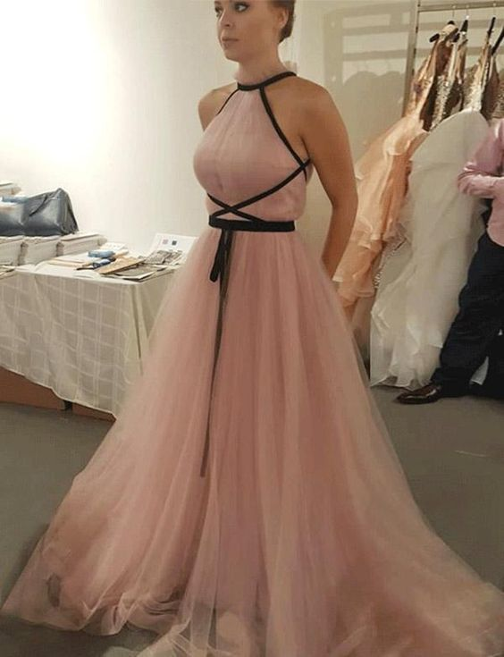 A Line formal gowns, Princess Evening Dresses, Sleeveless Spaghetti Straps