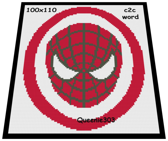 Spiderman 100x110 c2c (CORNER to CORNER)