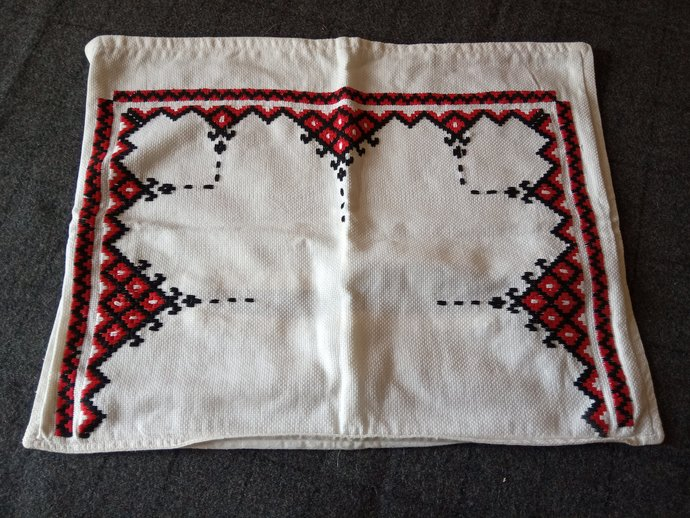Pillow Case Hand Embroidered, Ethnic pattern, Handmade cushion cover