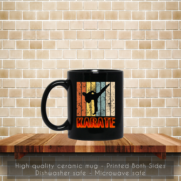 Retro Karate Powerful Coffee Mug, Tea Mug, Karate Powerful, Coffee Mug, Vinatge
