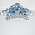 Signed Emmons Blue Aurora Borealis Star Design Brooch