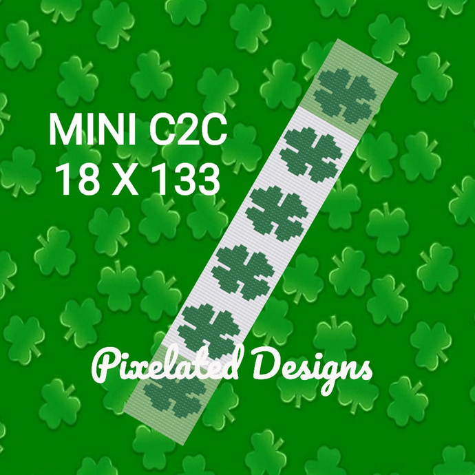 Wide Clover Scarf - Mini C2C - 18x133 - Graph w/Written