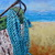 Anchored Original Boat Oil Painting Nautical Ocean boat Art by Rebecca Beal