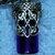 Cobalt blue glass and pewter Celtic vial necklace DESTASH ITEM