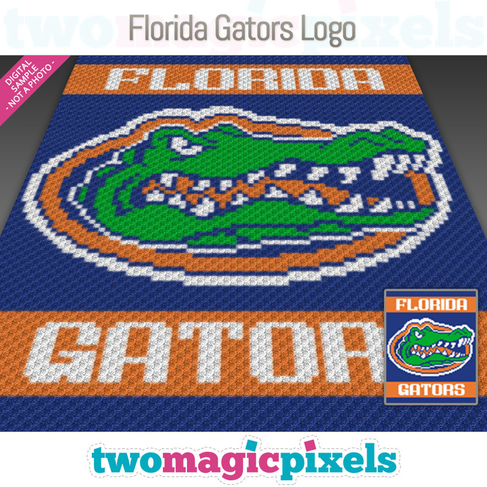 Florida Gators Logo crochet graph (C2C, Mini C2C, SC, HDC, DC, TSS), cross  stitch