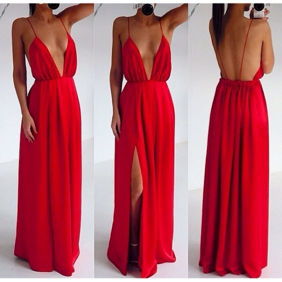 Stylish red tulle long prom dress, Off-the-Shoulder Floor-Length A-Line