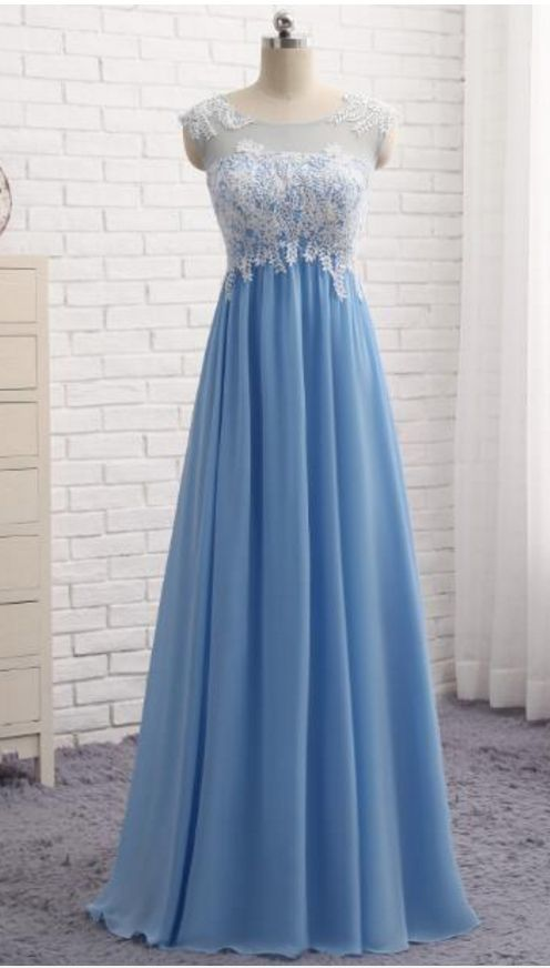 A pale blue evening gowns,sexy ball gowns, custom made prom,new fashion,