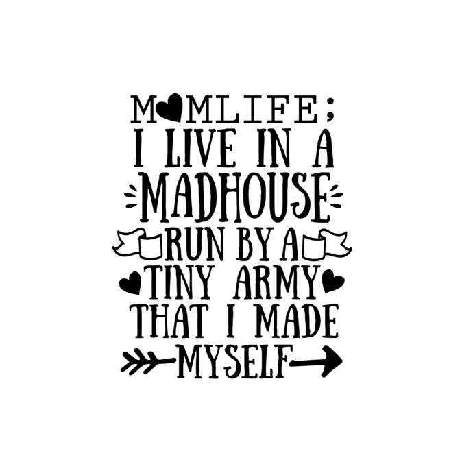 I live in a madhouse Graphics SVG Dxf EPS Png Cdr Ai Pdf Vector Art Clipart