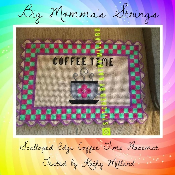 Scalloped Edge Coffee Time Place Mat