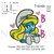 Custom embroidery smurf girl Embroidery Design,Daisy embroidery pattern  ... 3