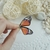 Orange Butterfly Earrings, Unique Gift For Women Bohemian Nature Lover Statement