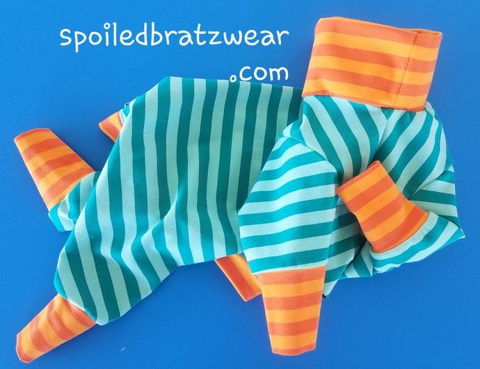 MEDIUM Spring Stripes Cotton Knit PJs