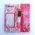 Dr. Slump Arale Pink Poo Die Cut Luggage Tag ID Case w/ Neck Strap - Brand New