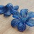 Painted Flower Beads, Extra Large Tropical Bloom, Watercolor Abyss Blue, 2