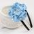 Hard Headband - Light Carolina Blue Satin Flower