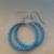 Stainless Steel Seed Bead Hoop Earrings- Lt Blue