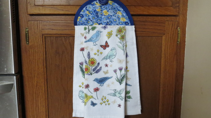 Bird Kitchen Towels Hanging Dish Towels Tea Towels Floral Kitchen Towels Spring