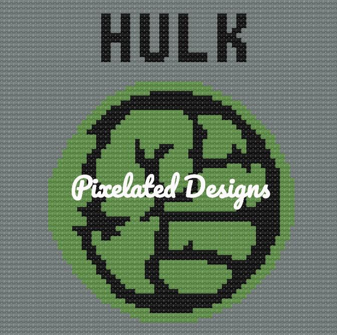 Hulk Large Throw Pillow Pattern - SC - 70x70 - Graph w/Written