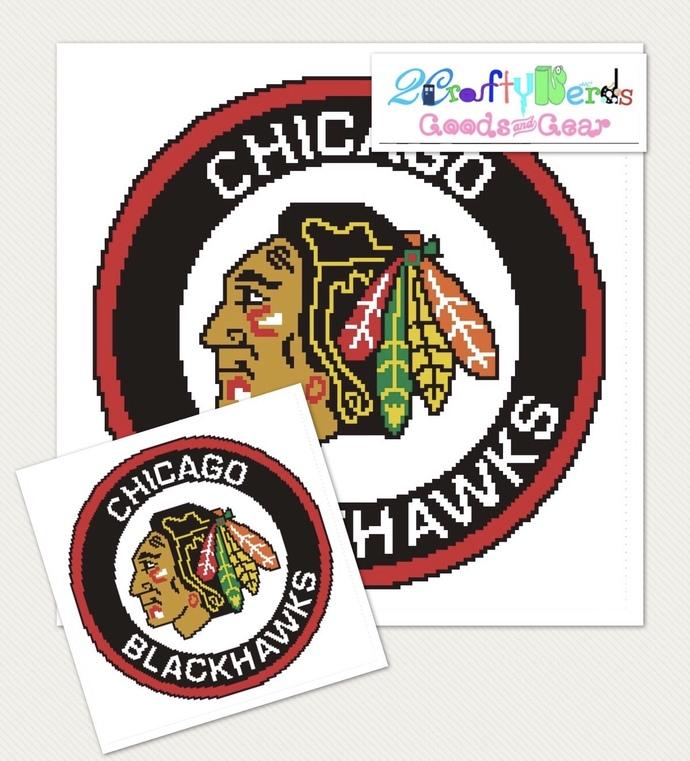 Chicago Blackhawks Pattern with Single Crochet Written