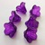 Painted Flower Beads, Medium Lily, Watercolor Amethyst, 6