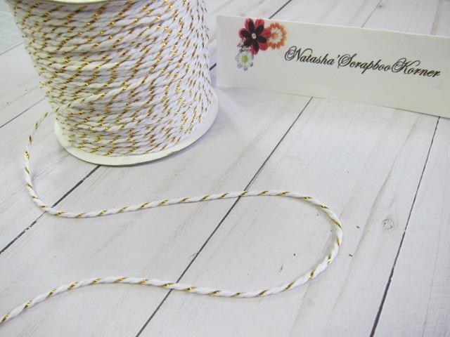 Twine Cotton Cord White/Gold