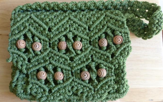 macramé purse, shoulder purse, gift for women, gift for girls, unique purse