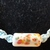 Macrame halfknot choker Macrame necklace Pink and blue floral ceramic beads Gift