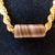 Macrame halfknot choker Macrame necklace Striped ceramic bead Wood beads Gift