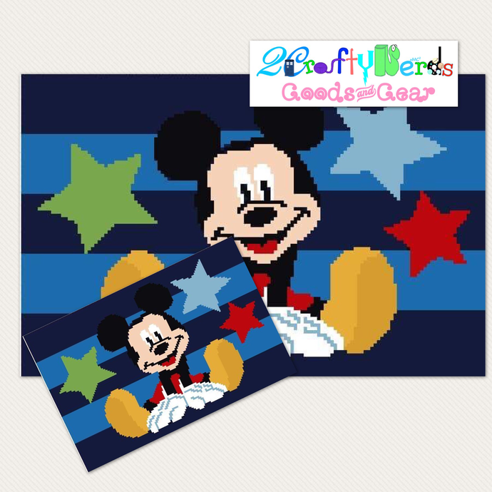 Mickey Rug Pattern Graph With Single Crochet Written