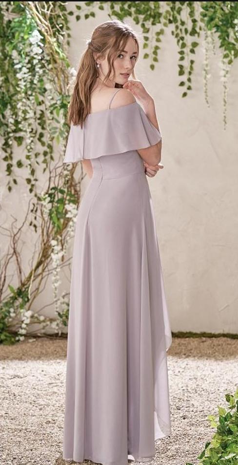 Cheap Country Bridesmaid Dresses, Flow Chiffon Beach Wedding Party Dress Maid of