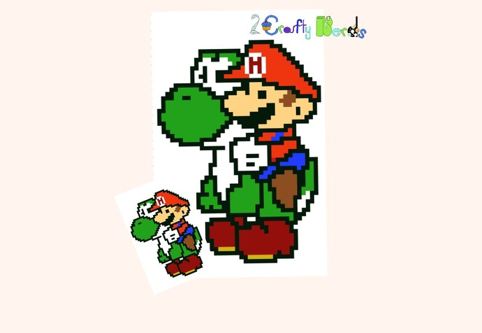 Mario and Yoshi Pattern Graph With C2C Written