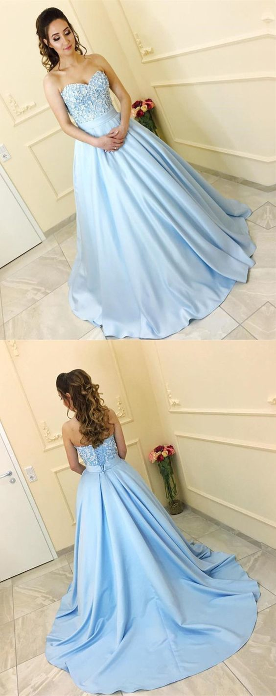 A-Line evening dress,sexy ball gowns,custom made prom, Sweetheart neckline party