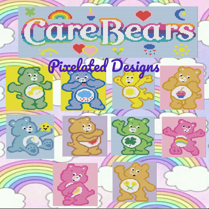 Care Bears Pattern Bundle - SC - 11 Patterns!! - Graphs w/Written