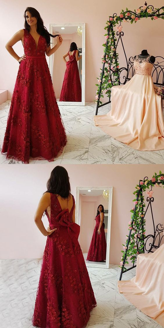 Stunning evening gowns,sexy ball gowns, custom made prom,new fashion,A-Line Deep