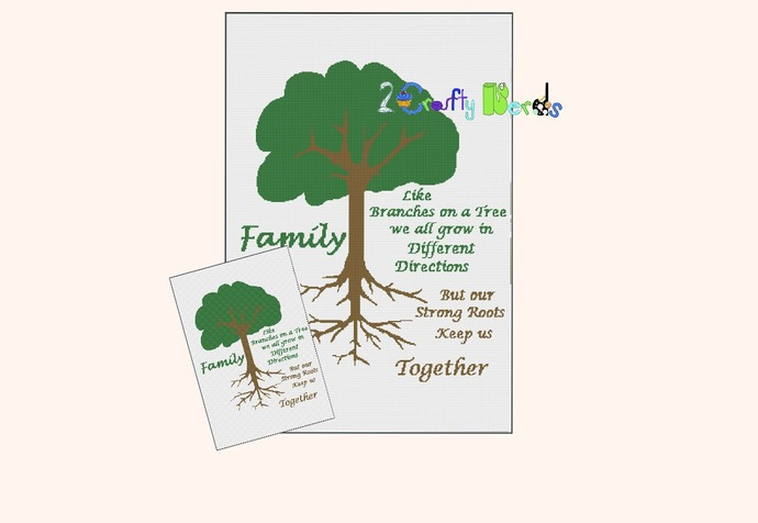 Family Roots Pattern Graph With Single Crochet Written
