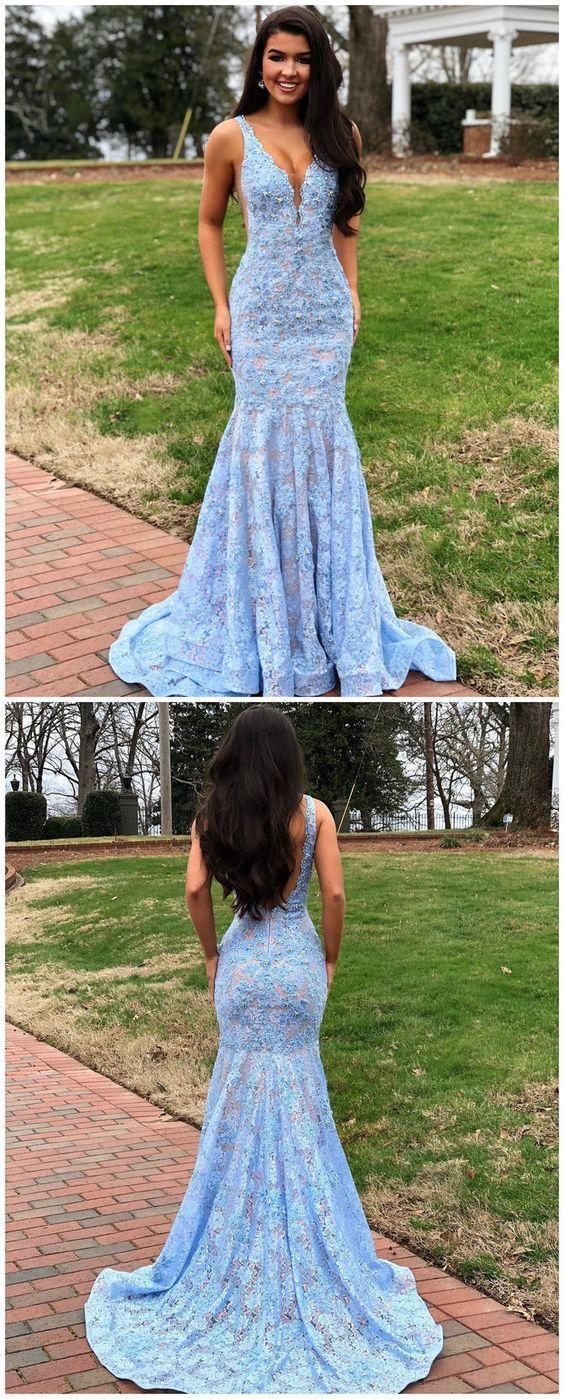 Light Blue Mermaid Dress