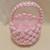 Macrame basket Pink and white yarn basket Easter basket Easter decoration