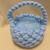 Macrame basket Pale blue yarn basket Easter basket Easter decoration Holiday