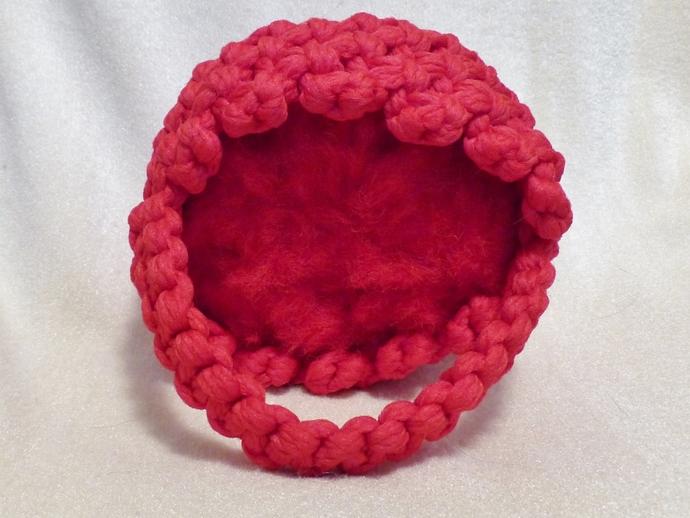 Macrame basket Red yarn basket Christmas basket Christmas decoration Holiday