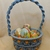 Easter basket Macrame basket Steel blue basket Holiday decoration Room
