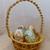 Easter basket Macrame basket Gold blend basket Holiday decoration Room