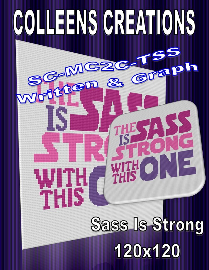 Sass is Strong Crochet Written and Graph Design