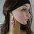 Beaded earrings, Fashion earrings, Long dangle earrings for women, Statement