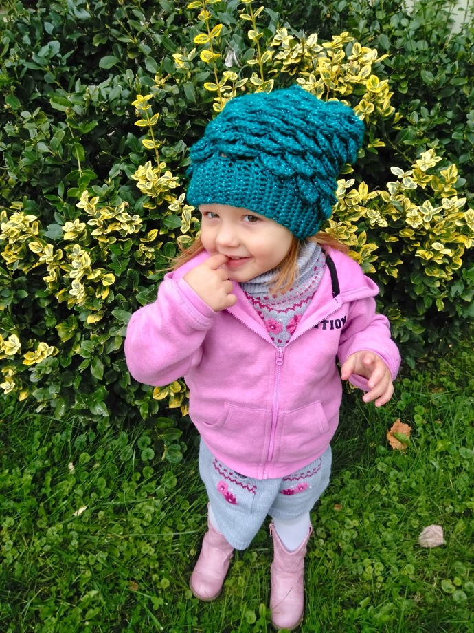 Mermaid Slouchy Hat for Kids Crochet Pattern - PATTERN ONLY - Instant Download