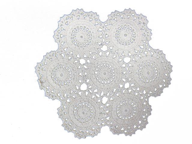 9 inch Cotton Crochet Doily - Cream
