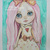 Original OOAK watercolor painting - Pink haired Blythe doll